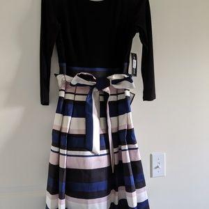 Color block A- line dress